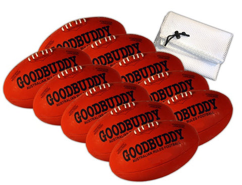 Goodbuddy Australian Rules Synthetic Leather Ball - Size 4 / Bag 10