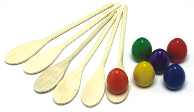 Egg & Spoon Set x 6