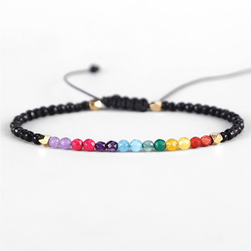 b5c1af3704386c 12 Constellation Lucky Stone Beads Simple Bracelet 3mm Beads Adjustabl – Funny  Product Store