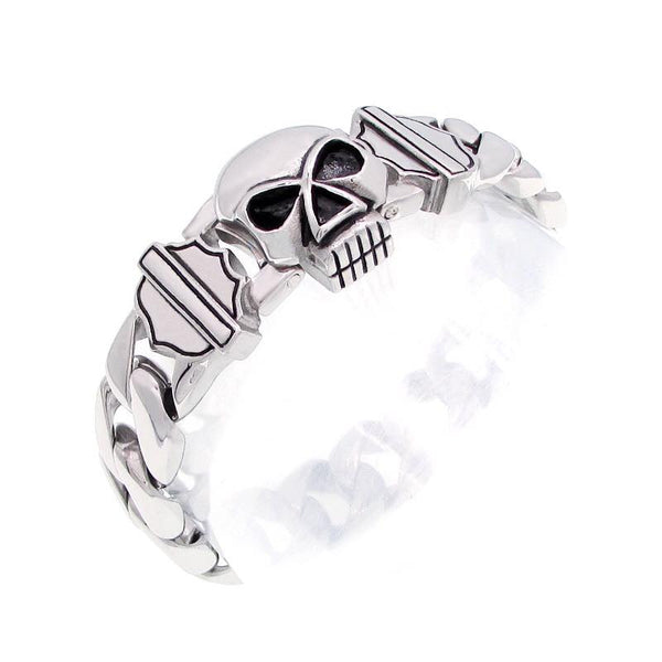 HD stainless steel skull bracelet