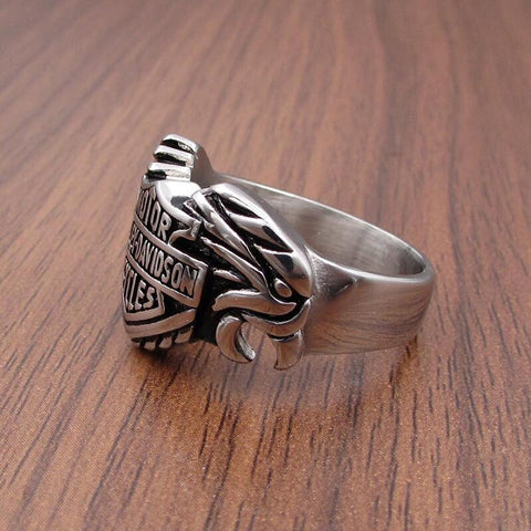 HD Eagle biker rings
