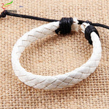 Hot Fashion Trendy Charm Bracelets Leather Jewelry Woven Rope Chain Comfortable Vintage Men Women Bohemia