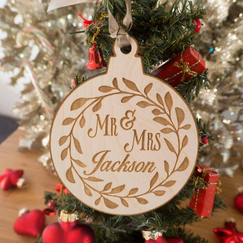 Custom Name Ornament with - Personalized Christmas Ornament