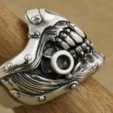 MAD MAX Immortan Joe Ring Sterling Silver Mens Biker Punk Skull Style