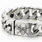 Huge Heavy 316L Stainless Steel Deep Engraved Pirate Skull Men