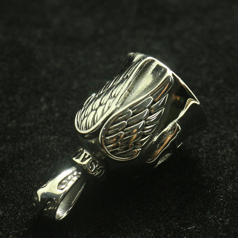 Men Boy 316L Stainless Steel Cool Biker Eagle Wing Pendant Newest
