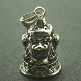 Mens Boys 316L Stainlesss Steel Ancient Myth Loong Jingle Bell Pendant