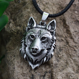 Wolf Head Necklace Pendant Animal Power Norse Viking Amulet Necklaces Pendants