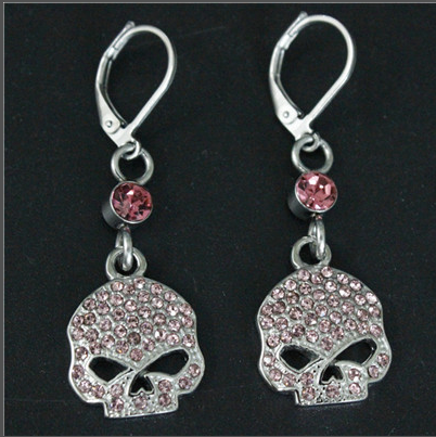 Skull Biker Earrings
