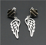 HD beautiful women Biker Earrings