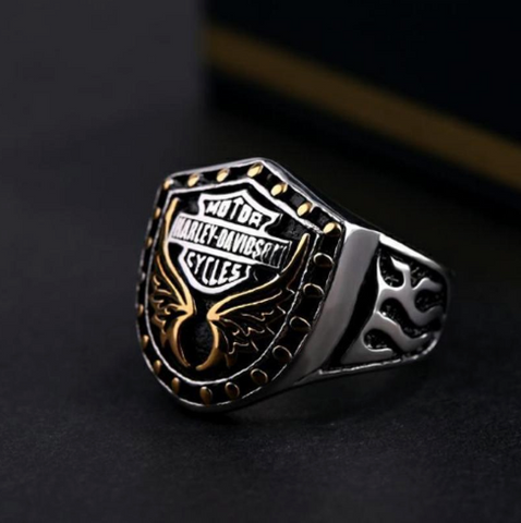 The overbearing Eagle wing Harley ring