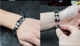 High quality Dragon Black vintage punk  bracelet for men stainless steel