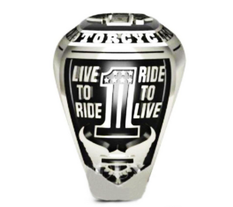 Size 6-15 Motorcycle Ring Trend of Personality Men's Biker Ring