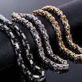 "Hiphop Golden Link Chain Heavy Mens Necklace Chunky Gold/Black Color Cuban Curb Chain 22.4"" Long Necklaces"
