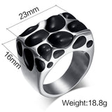Fashion Multicolor Large Enamel Rings for Women Stainless Steel Wedding Party Rings