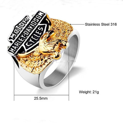 European and American Eagle ring stainless steel ring