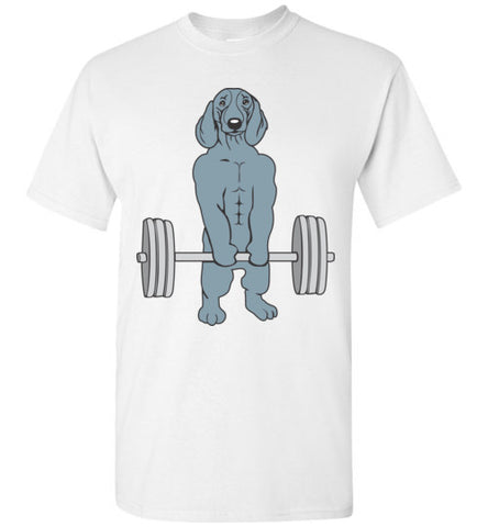 Dachshund Weightlifting Funny Deadlift Men Fitness Gym Gifts Tank Top