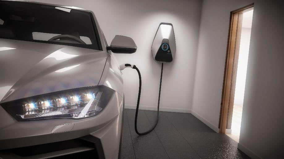 wall-mounted Level 2 charger