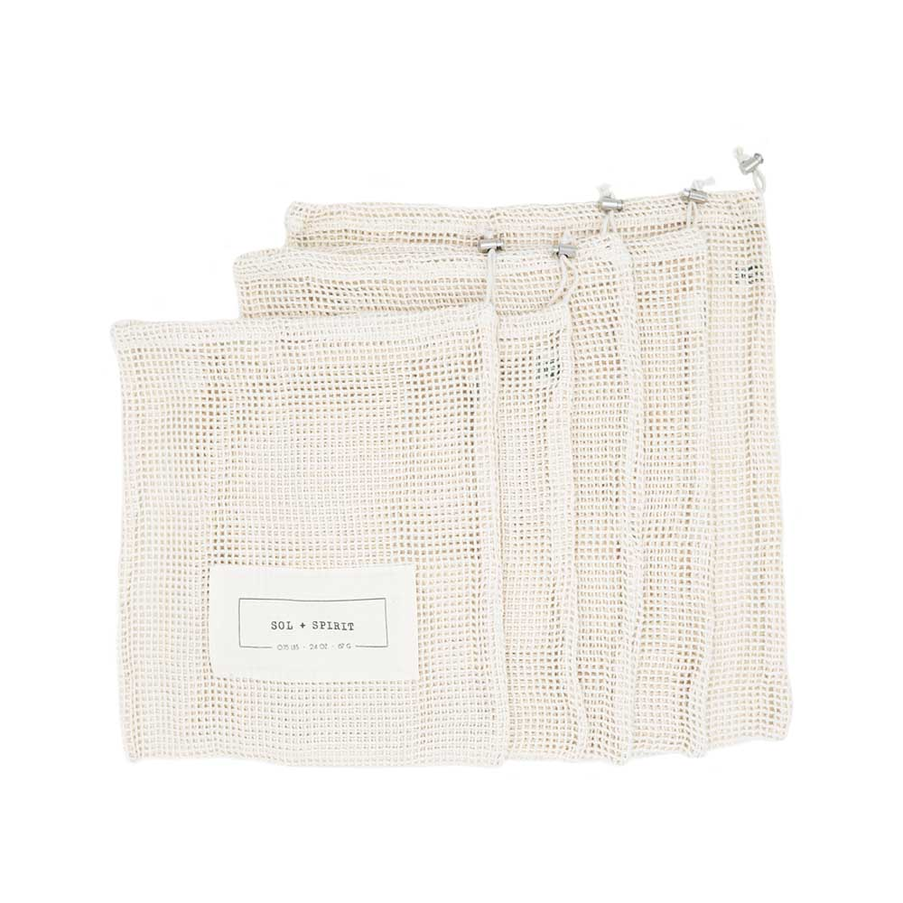 reusable cotton produce bags 5 pack