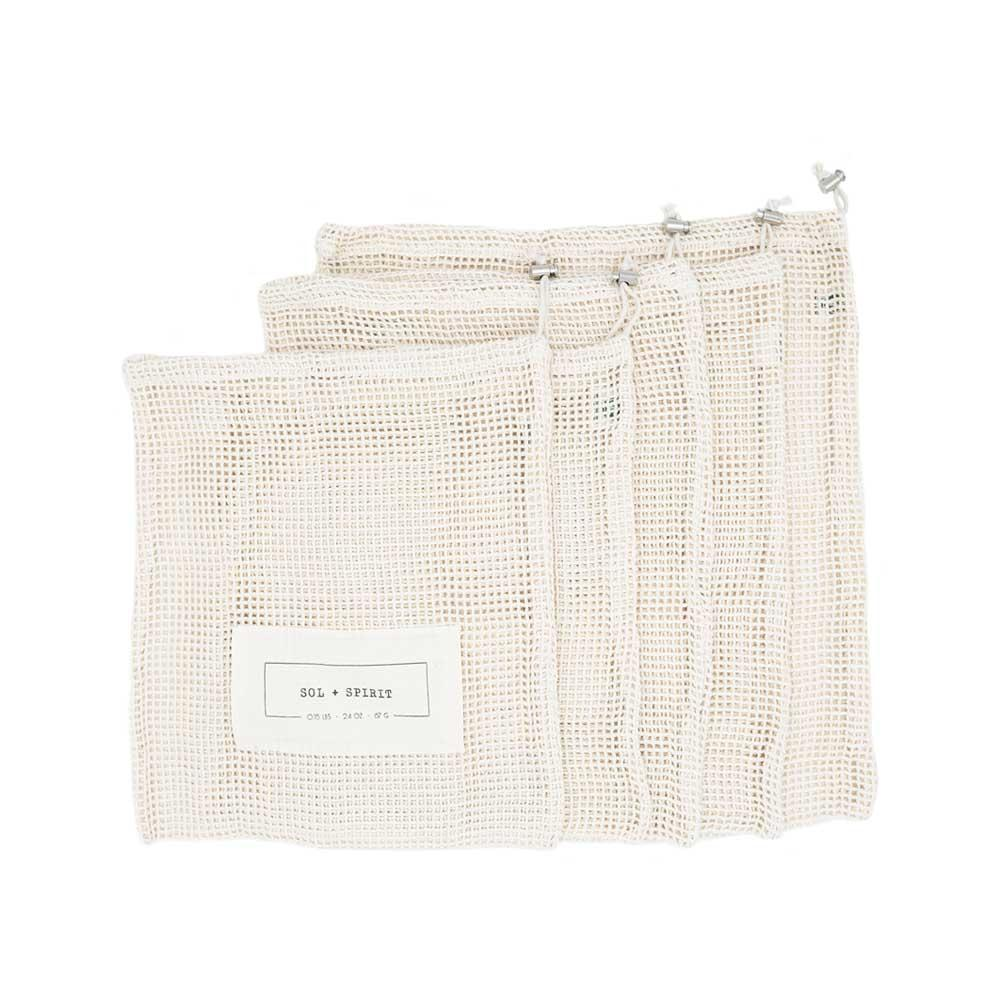 reusable mesh produce bags 5 pack