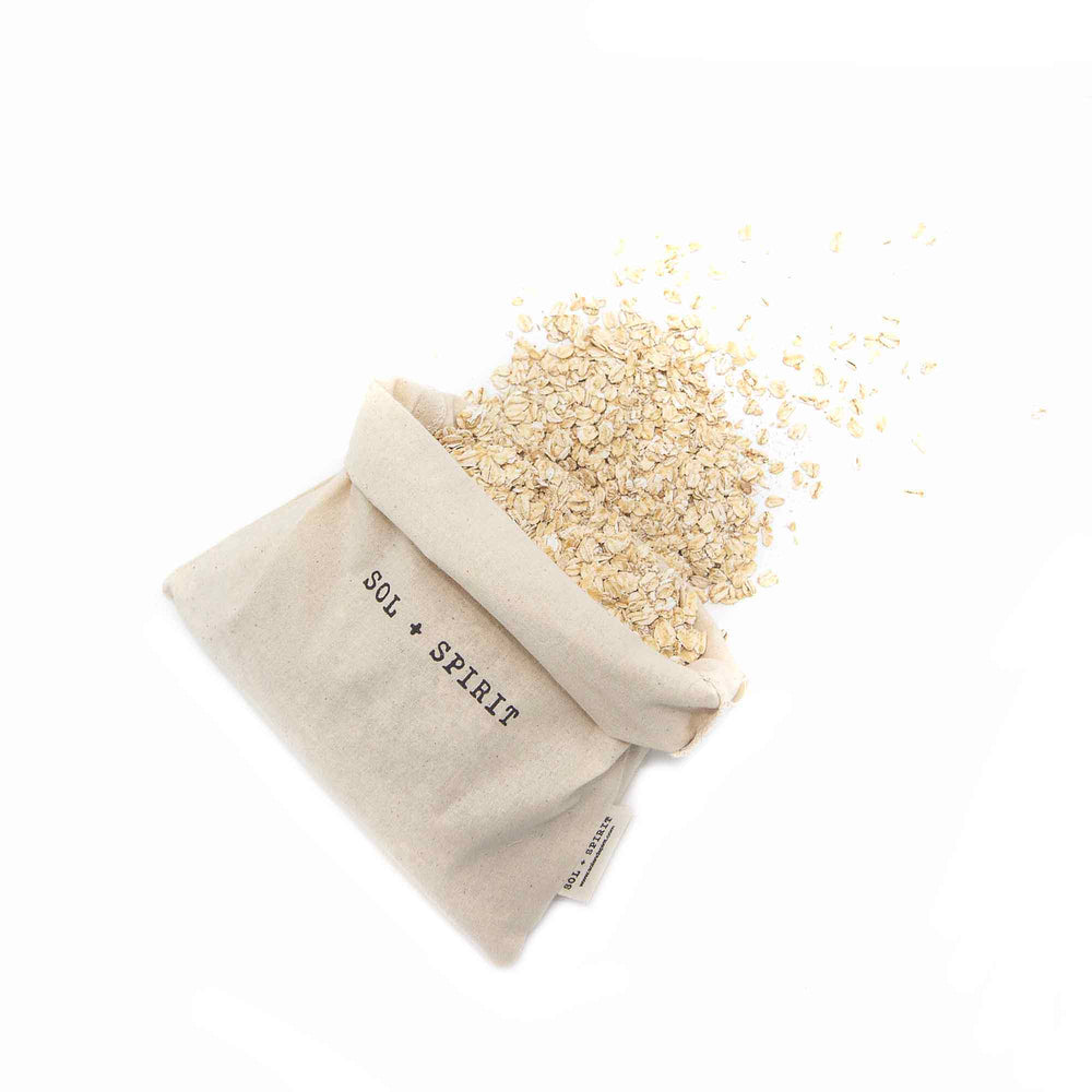 reusable bulk bag bundle oats spilling out