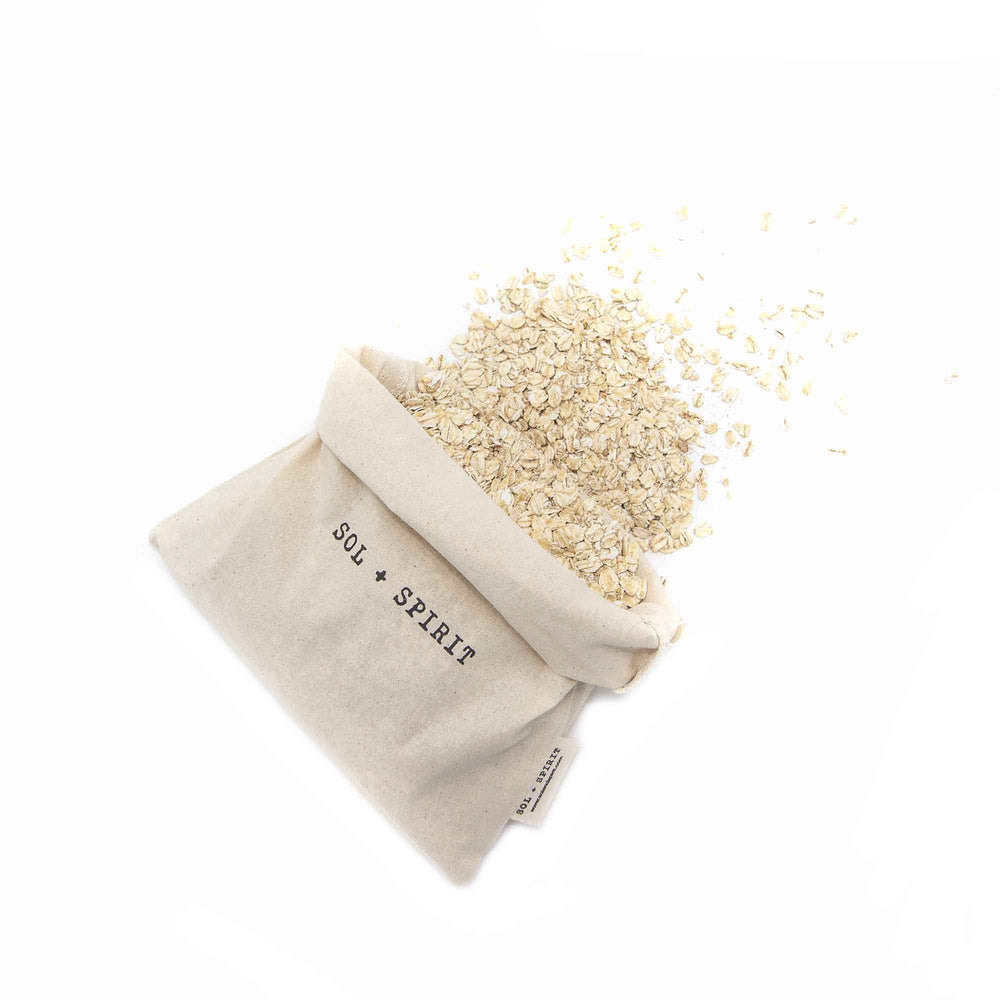 bulk reusable shopping bags spilling oats
