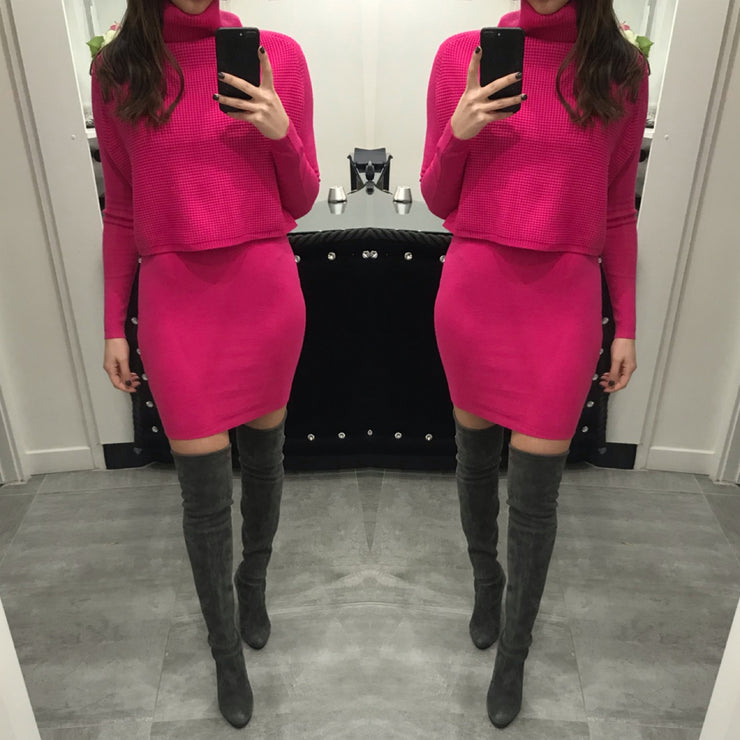 a1d152989b8 Camila XXVI London Jumper Dress - Hot Pink
