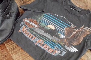 Night Flight 1985 Harley Tee