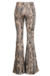 Poision Snake Skin Bell Bottoms