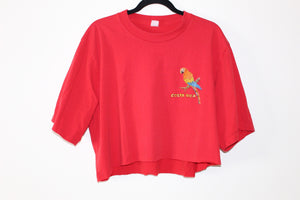 🦜 Costa Rica Parrot Paradise Vintage Crop Top