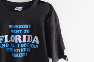 Vintage Thrashed Florida Crop Top