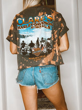 Load image into Gallery viewer, Clare's Harley-Davidson At The Falls Cropped Tie Dye Tee