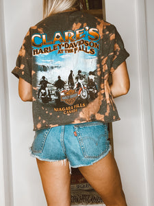 Clare's Harley-Davidson At The Falls Cropped Tie Dye Tee