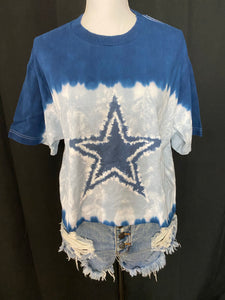Tie Dye Dallas Cowboys Crop Top