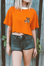 Load image into Gallery viewer, Vintage BSA Tiger Cubs Cropped Ringer Tee