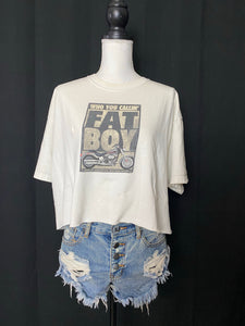 Who You Calling Fat Boy Cropped Harley Tee