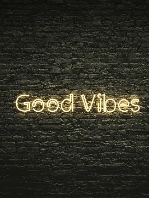 "Led Neon Sign ""Good Vibes"""