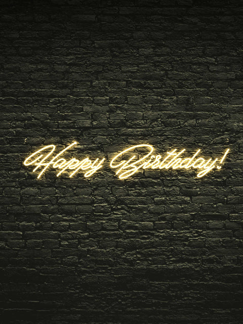 "Led Neon Sign ""Happy Birthday"""