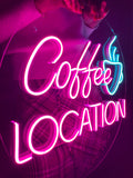 Led Neon Sign 'Coffee Location'