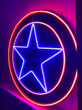 "Led Neon Sign ""Star Shield"""
