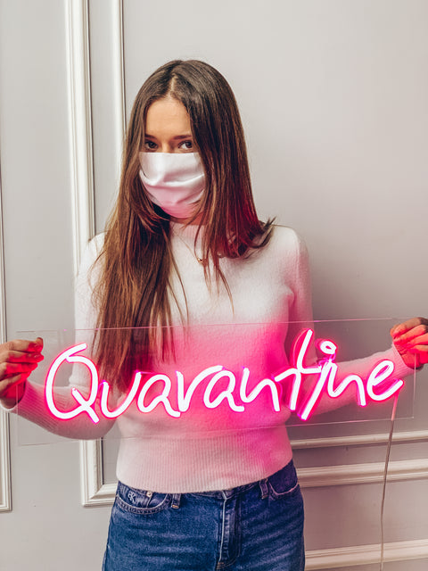 "Led Neon Sign ""Quarantine"" - Creative Decor"