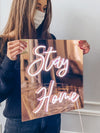 "Led Neon Sign ""Stay Home"" - Creative Decor"