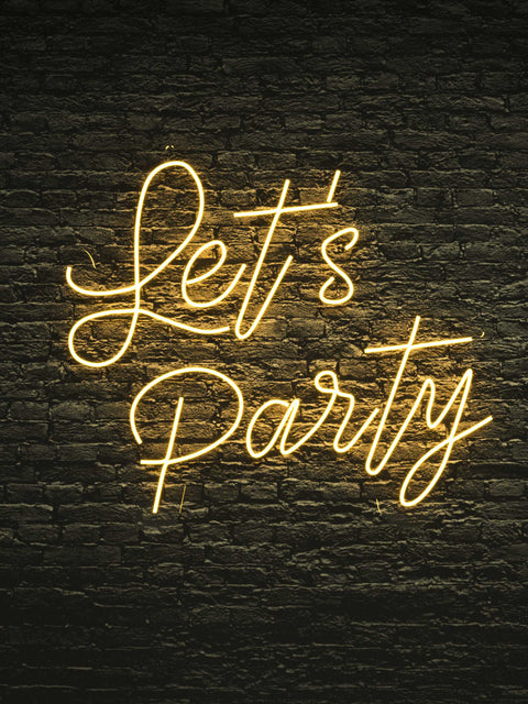 "Led Neon Sign ""Let's Party"""
