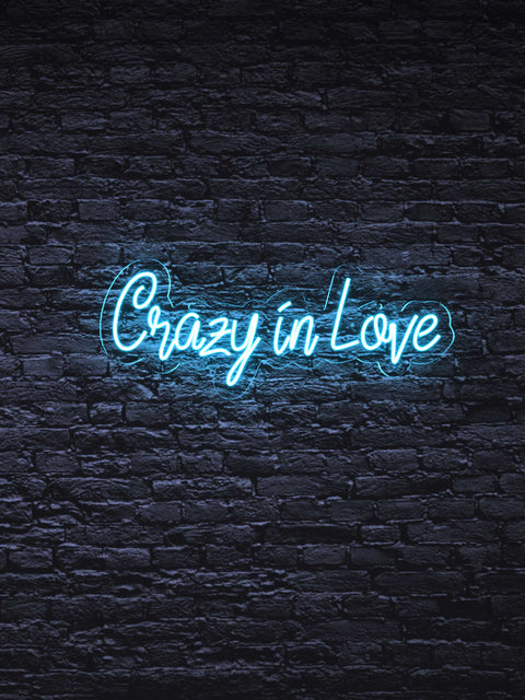 "Led neon sign ""Crazy in Love"""
