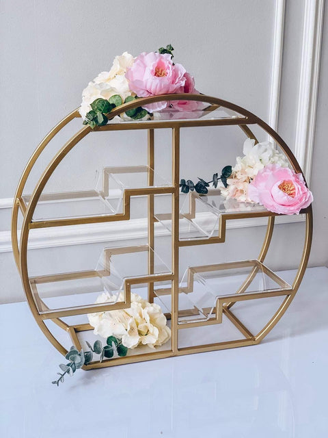 Circle 4 tier cake stand for candy bar decoration. - Creative Decor