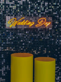 "Led Neon Sign ""Wedding Day"" - Creative Decor"