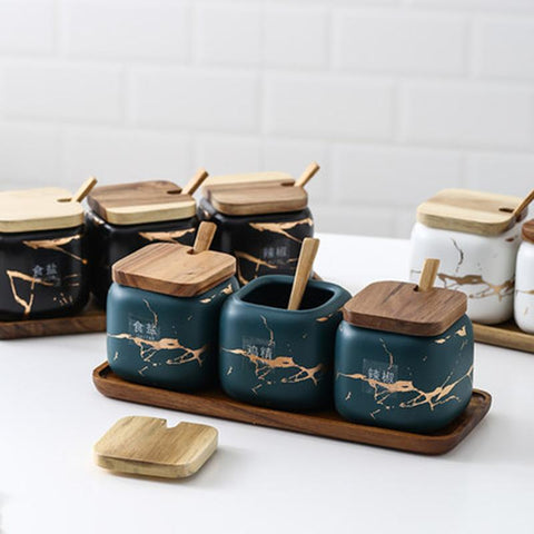 green-marble-nordic-spice-jars-wooden-tops-spoons-3pc-set-comfort-homes-houseware