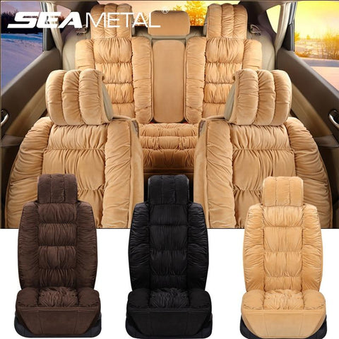 luxury-car-seat-covers-soft-plush-universal-fit-black-brown-begie-pink