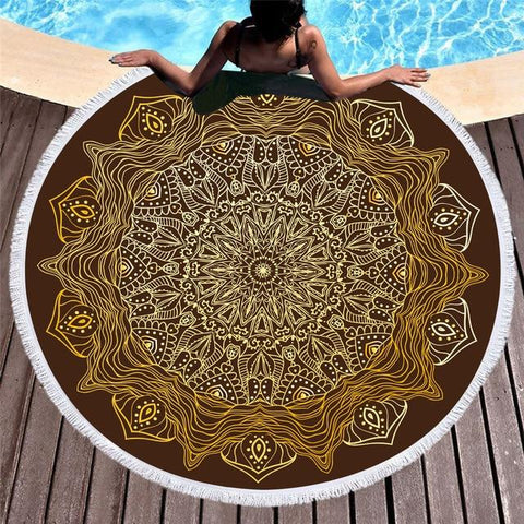 brown-bohemian-oversized-round-beach-towel-comfort-homes-houseware