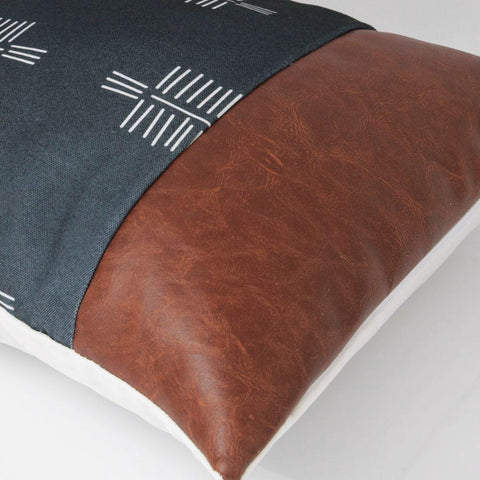 brown-faux-leather-geometric-throw-pillow-cover-comfort-homes-houseware